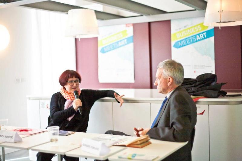 Patrizia Moroso a confronto con Giuseppe Furlanis  presso Friuli Future Forum.