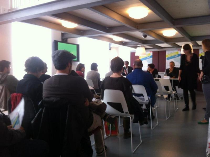 Al tavolo dei relatori Patrizia Moroso e Giuseppe Furlanis moderati da Claudio Melchior — presso Friuli Future Forum.